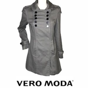 Vero Moda military style dbl breasted jacket sz M